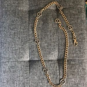 Michael Kors Gold Chain Belt